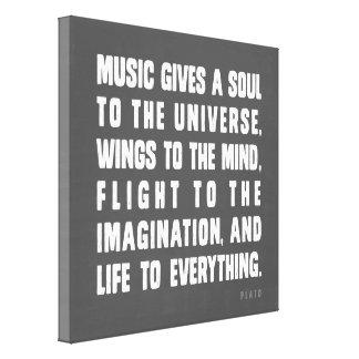 La música da un alma al universo lona envuelta para galerias