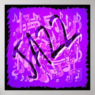 La música de jazz observa el modelo musical poster