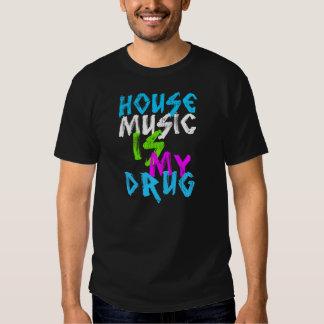 la música de la casa es mi camiseta negra para poleras