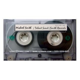 La música de la cinta de casete registra tarjetas tarjetas de visita