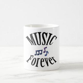 La música de la guitarra observa para siempre la t tazas de café