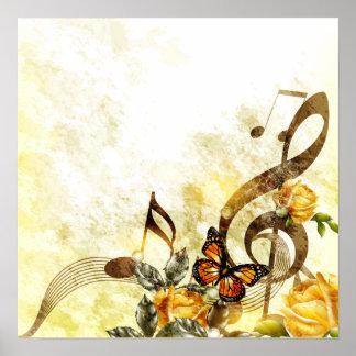 La música de la mariposa observa el poster