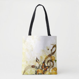 La música de la mariposa observa todos encima - bolsa de tela