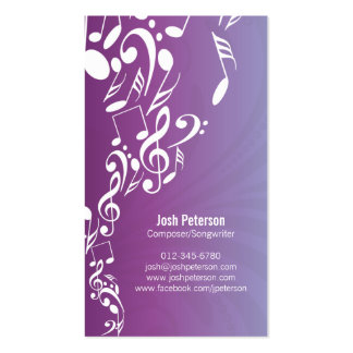 La música de la tarjeta de visita del músico obser