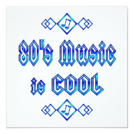 la música de los años 80 es fresca invitación 13,3 cm x 13,3cm