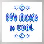 la música de los años 80 es fresca posters