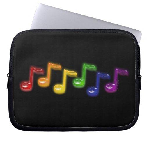 La música del arco iris observa las mangas del ord fundas ordendadores