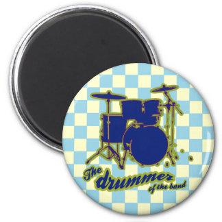 la música del ~ del batería imán redondo 5 cm