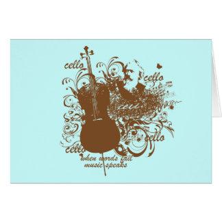 La música del fall de las palabras habla al músico tarjeta de felicitación