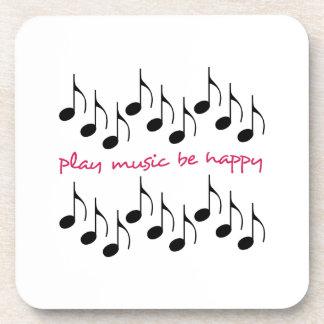 La música del juego sea feliz posavasos de bebidas