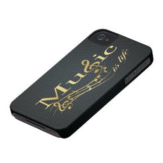 La música del oro es vida con la malla metálica Case-Mate iPhone 4 protectores