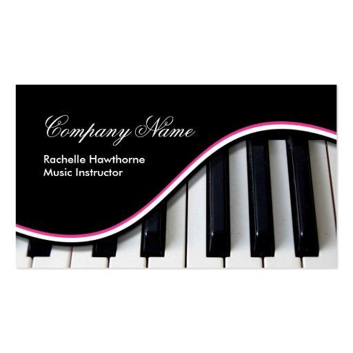 La música del piano cierra rosa del ~ de las tarjetas de visita