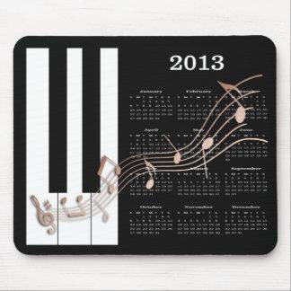 La música del piano del cojín de ratón de 2013 cal tapetes de ratones