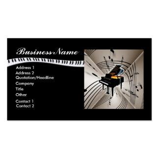 La música del piano observa la tarjeta de visita