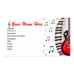 La música del teclado de piano de la guitarra obse tarjeta de visita