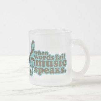 La música del trullo de la diversión habla el taza de cristal