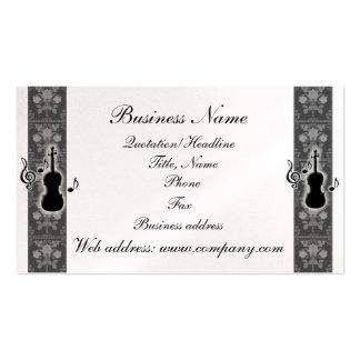 La música del violín observa la tarjeta de visita