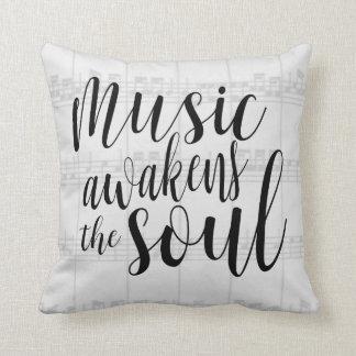 La música despierta el color del personalizado del cojín decorativo
