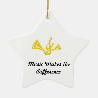 La música diferencia adornos de navidad