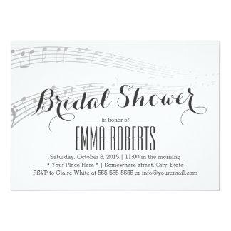 La música elegante observa invitaciones nupciales anuncios personalizados