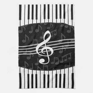 La música elegante observa llaves del Clef agudo y Toallas
