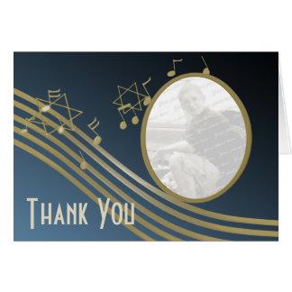 La música en el aire le agradece observar tarjeta pequeña