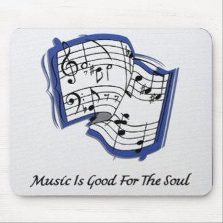 La música es buena para el cojín de ratón del alma alfombrillas de ratón