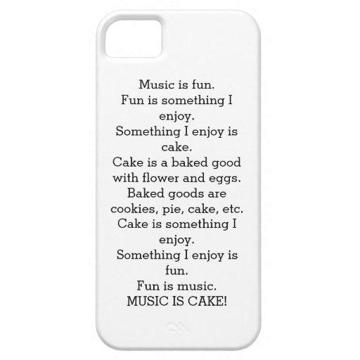 La música es caja del teléfono celular de la torta iPhone 5 Case-Mate carcasa