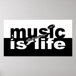 La música es cartera de la vida póster