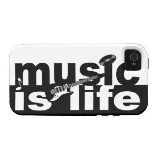 La música es casamata del iPhone 4 de la vida iPhone 4 Funda