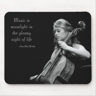 La música es claro de luna tapetes de raton