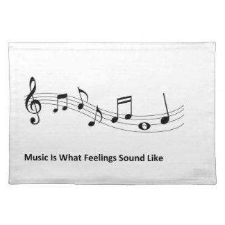 La música es como lo que suenan las sensaciones mantel individual