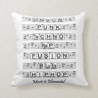 La música es elemental cojín