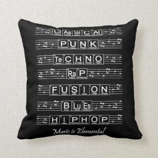 La música es elemental cojin
