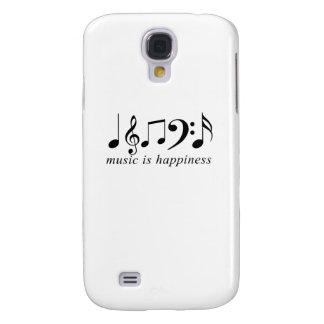 La música es felicidad funda para galaxy s4