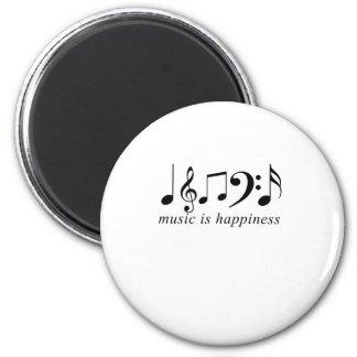 La música es felicidad imanes