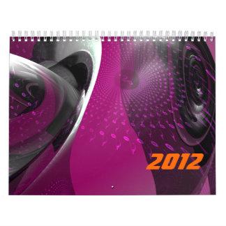 La música es geometría rosada calendario