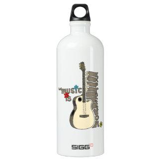 La música es guitarra de la expresión del uno