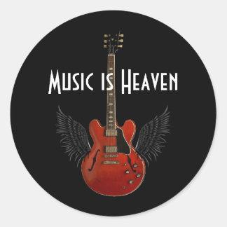 La música es hoja del cielo de 20 pegatinas pegatina redonda