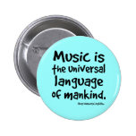 La música es la lengua universal del regalo de la  pin