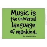La música es la lengua universal del regalo de la  felicitacion