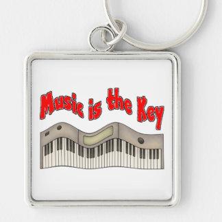 La música es la llave llaveros personalizados