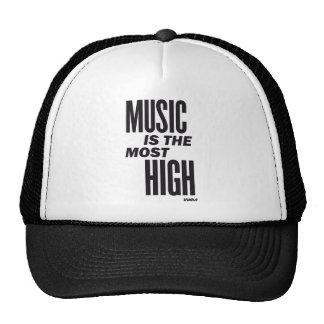 la música es la más alta gorras de camionero