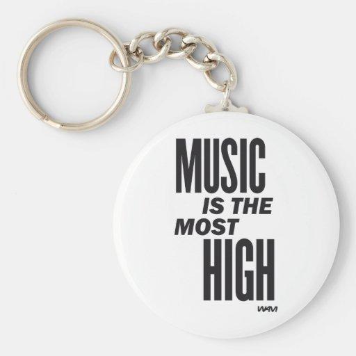 la música es la más alta llaveros personalizados