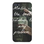 La música es la mejor solución a cualquier problem iPhone 5 cárcasas