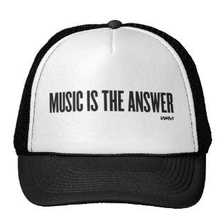 La música es la respuesta gorras de camionero