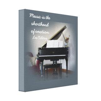 La música es la taquigrafía - cita de Tolstoy - Lienzo Envuelto Para Galerías