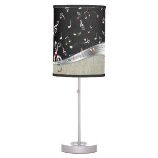 """La """"música es las notas coloridas frescas impresio lámpara de escritorio"""