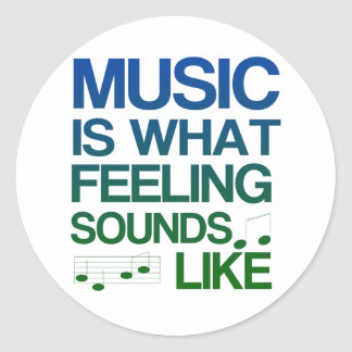 La música es lo que suena la sensación como cita etiquetas redondas