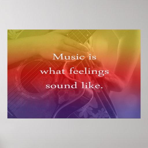 la música es lo que suenan las sensaciones como di poster